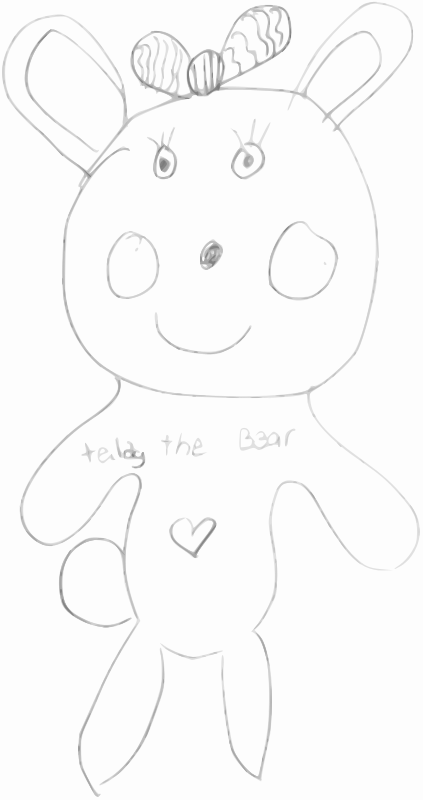 Free Kindergarten Art Teddy the Bear
