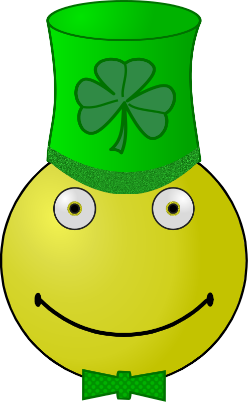 Free St. Patrick's Day smiley