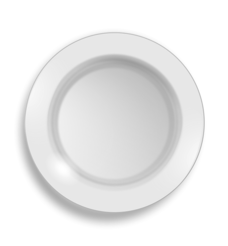 Free Clipart: White plate | hrum