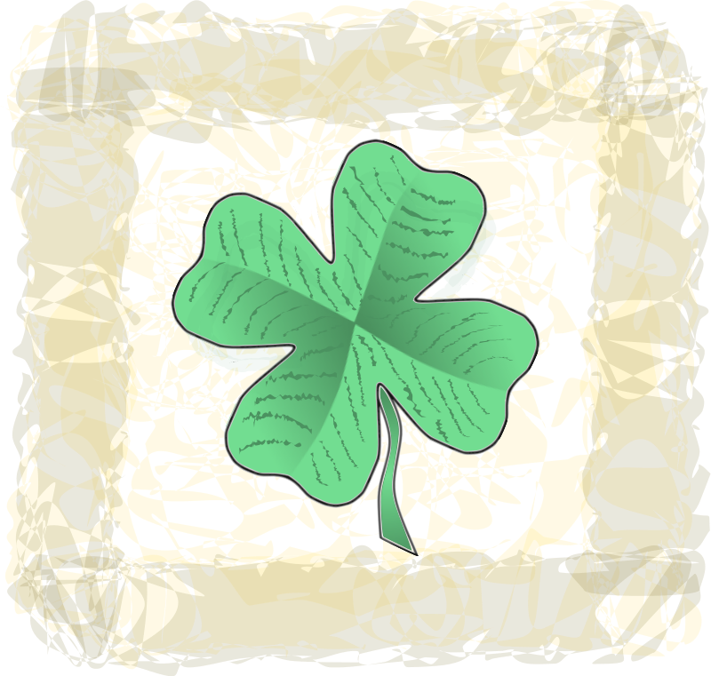 Free Clover with background