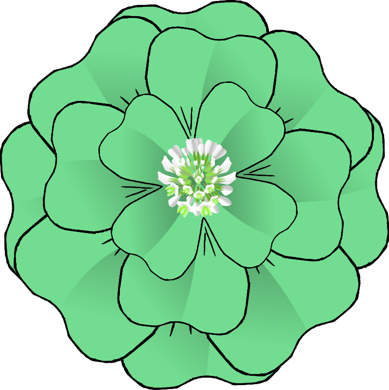 Free Flower 4 Leaf Clover Corsage-resubmission