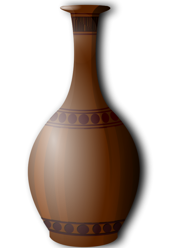Free Brown vase clipart.
