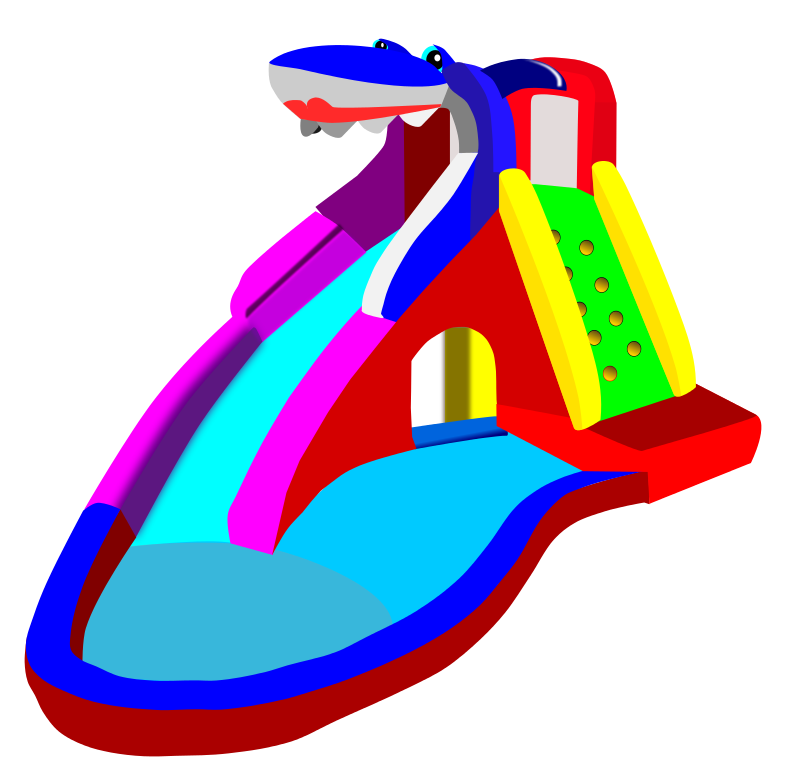 free clipart bouncy castle water slide pool alanspeak rh 1001freedownloads com  free water slide clipart