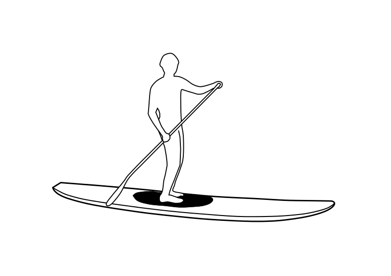 Free Clipart Stand Up Paddleboard Silhouette