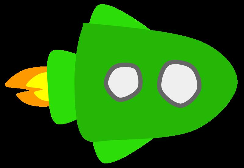 Free Green Spaceship