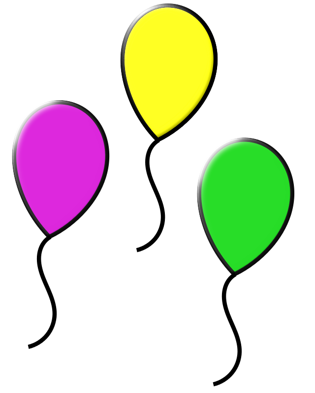 Balloons colorful. Free clipart colored loveandread
