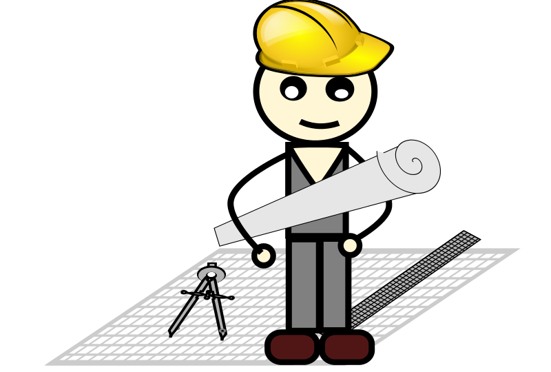 Free Clipart Architect With Compass And Ruler