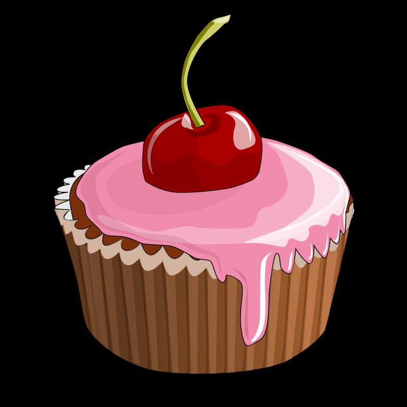 Free Cherry Cupcake