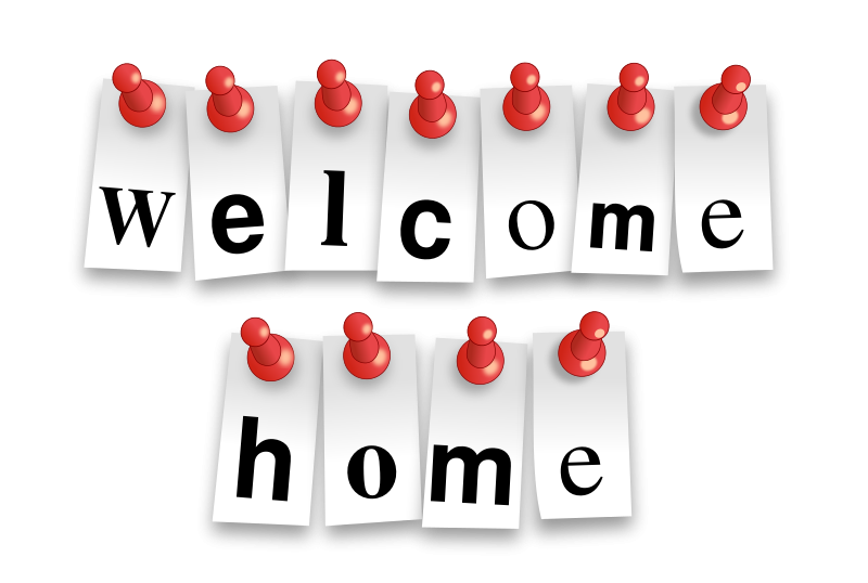 Free Welcome Home Notes