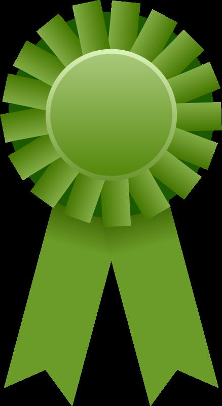 Ribbon green. Free clipart award mirek