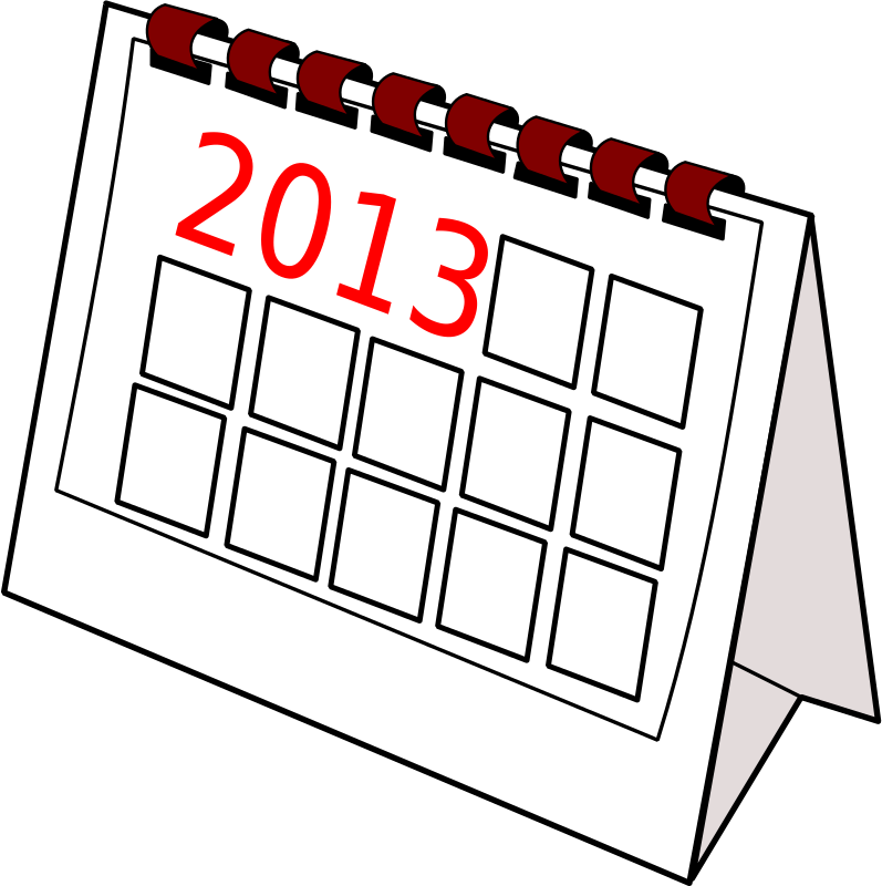 free clipart calendar past year colinda