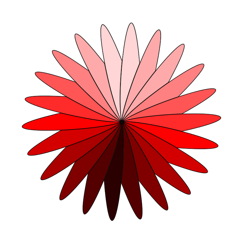 Free red flower