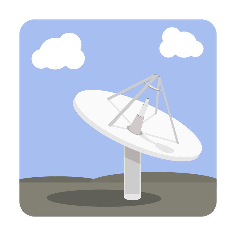 Free Clipart: Satellite Dish Base Station | barrettward