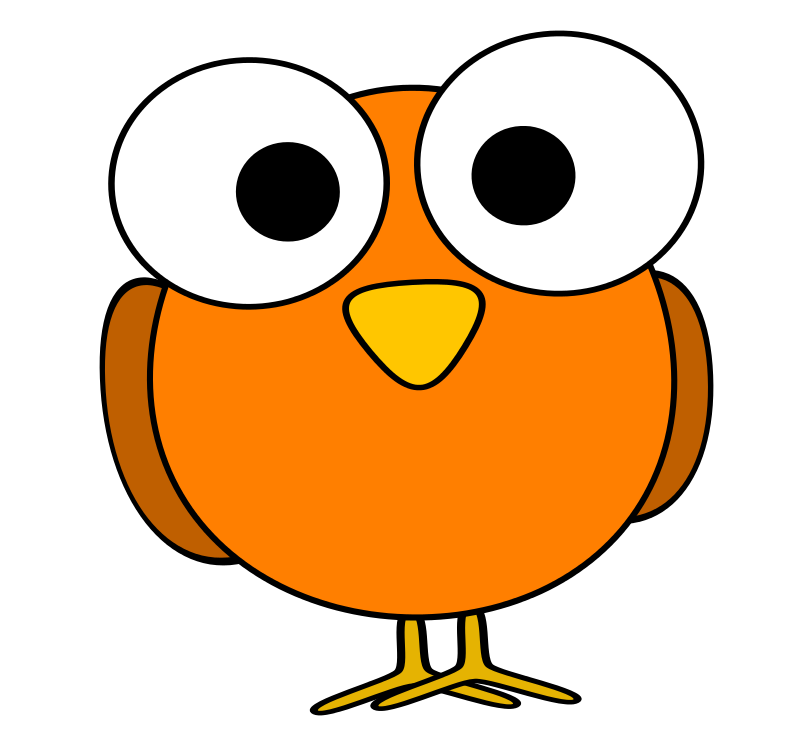 Free Clipart: Orange googley-eye bird | ruthirsty