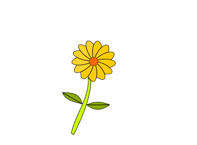 Free yellow flower