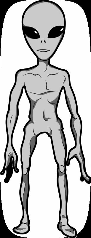 Free Clipart: Grey Alien Humanoid | jpneok