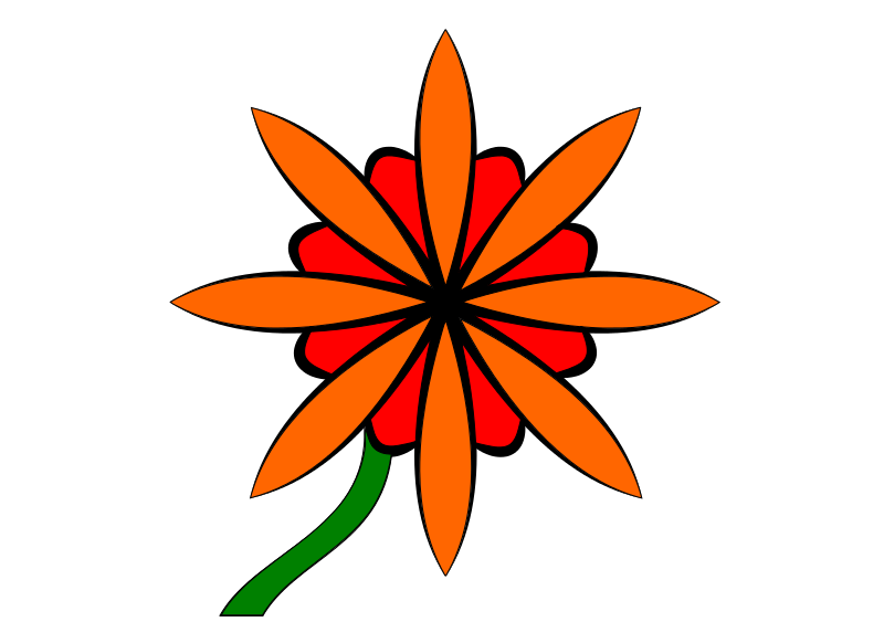 Free Red & Orange Flower