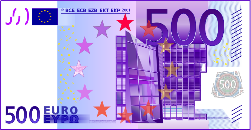 Free 500 Euro Note