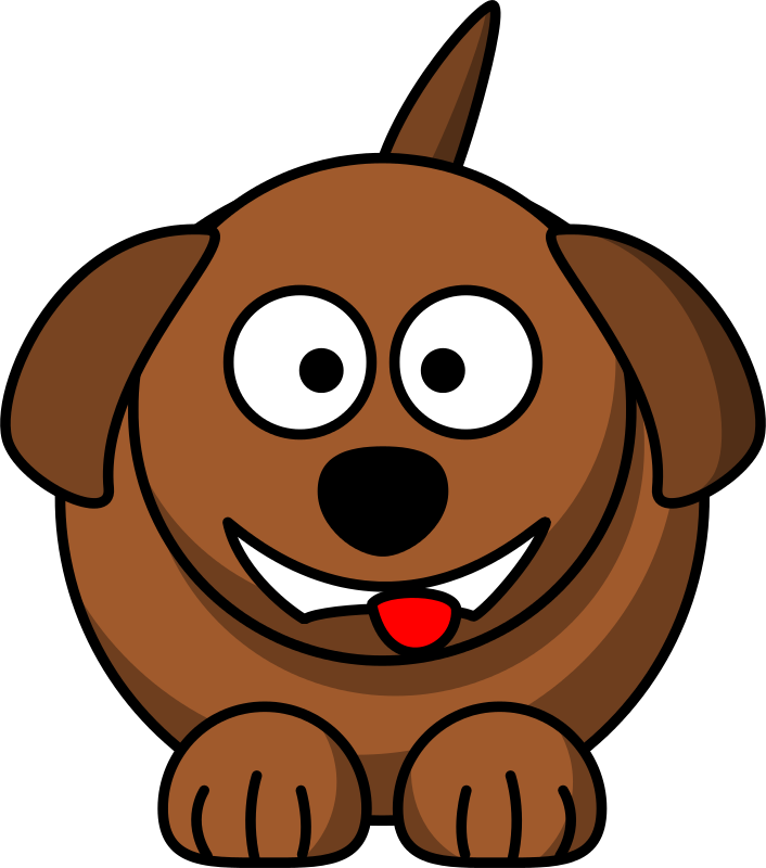 Free Cartoon dog laughing or smiling