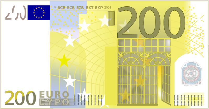 Free 200 Euro Note
