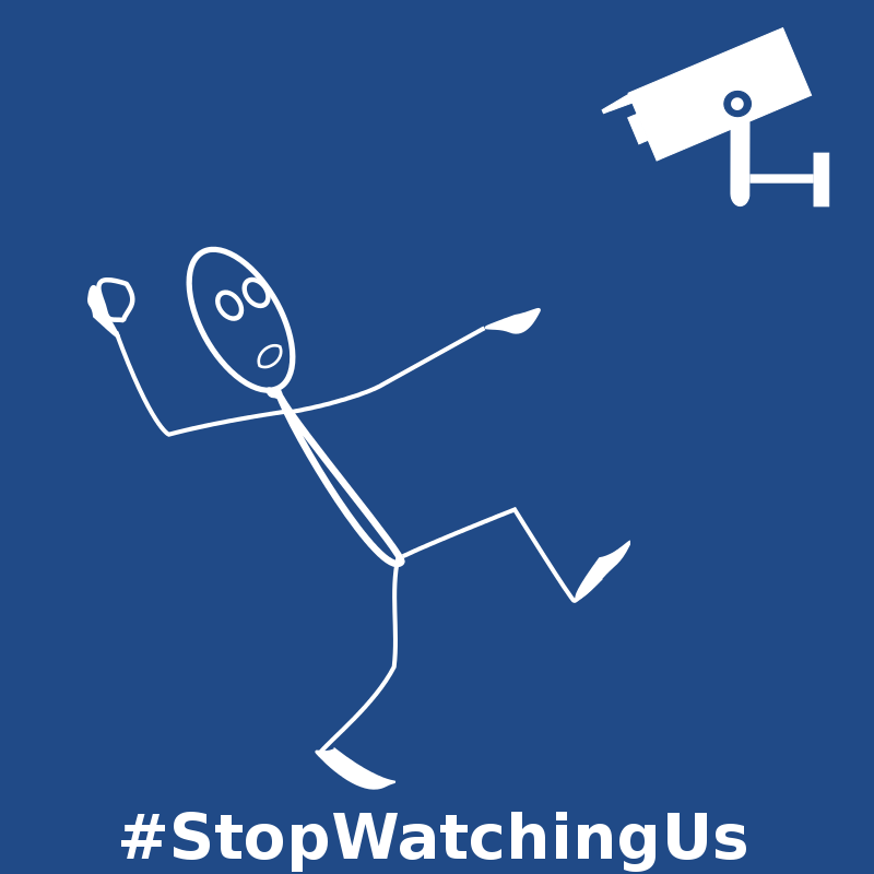 Free NSA Stop Watching Us - #204A87