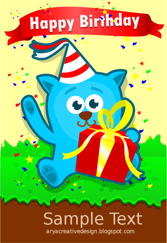 Free Card birthday template