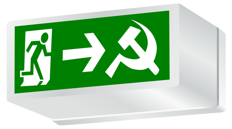 Free Clipart: Exit Capitalism! Socialism or Barbarism (Socialisme ou Barbarie) | worker