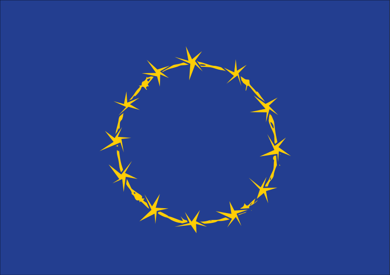 Free Flag of Fort Europe, EU