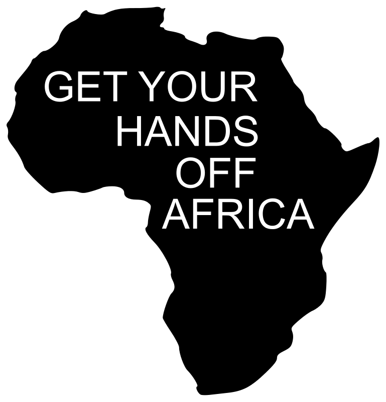 Free GET YOUR HANDS OFF AFRICA