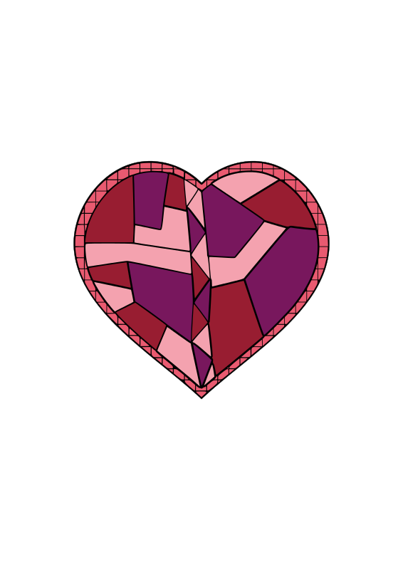 Free Stained Glass Heart