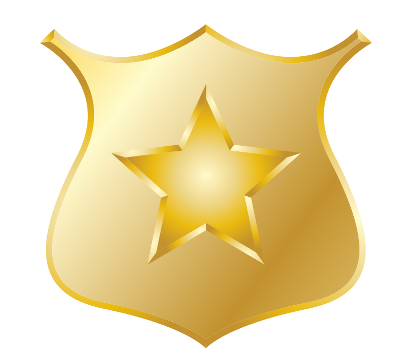 Free Gold police badge