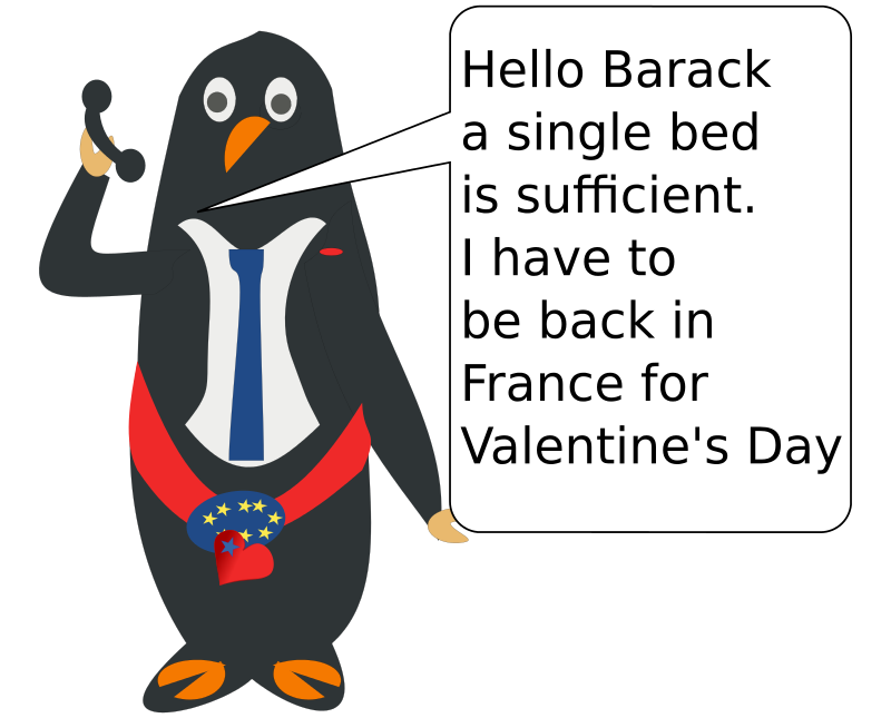 Free Clipart: Hello Barack! Here is Francis. | chatard