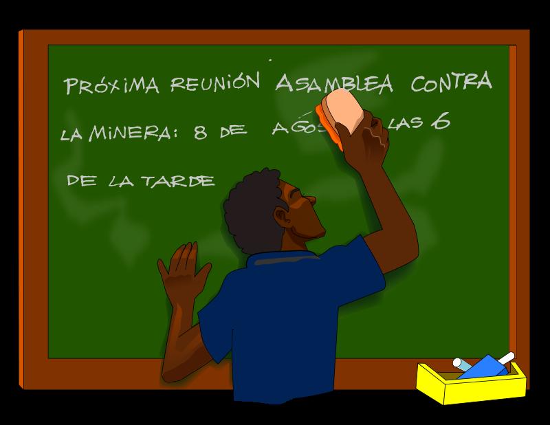 Free blackboard, eraser, SIC, men