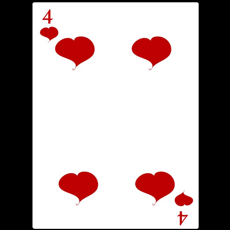 Free 4 of Hearts