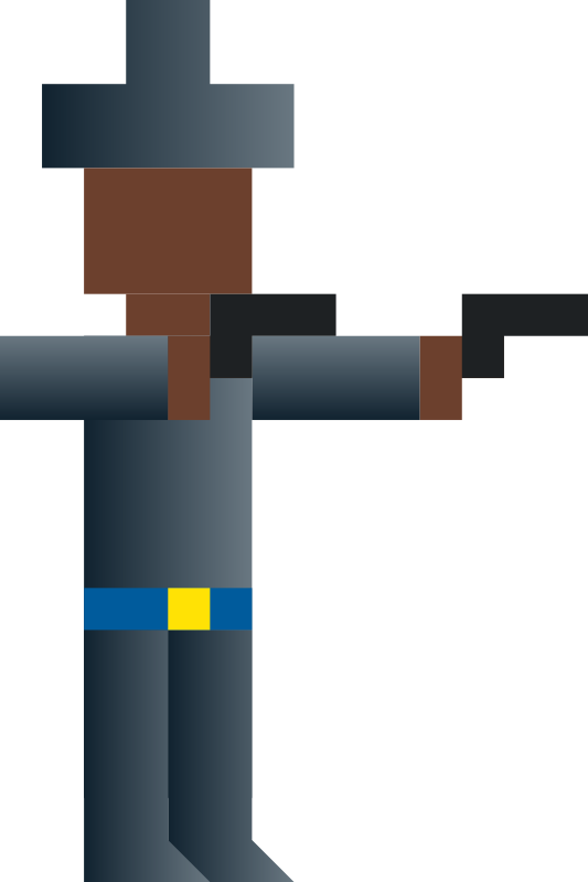 Free Cowboy Dual-Wielding Guns (Abstract Vector Pixel Art)
