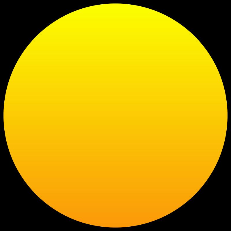 Free Orange Sun Outlined