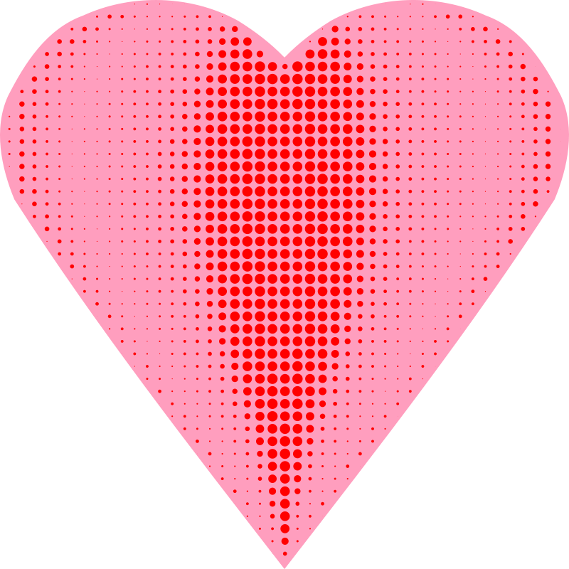 Free Clipart: Heart Halftone | Arvin61r58
