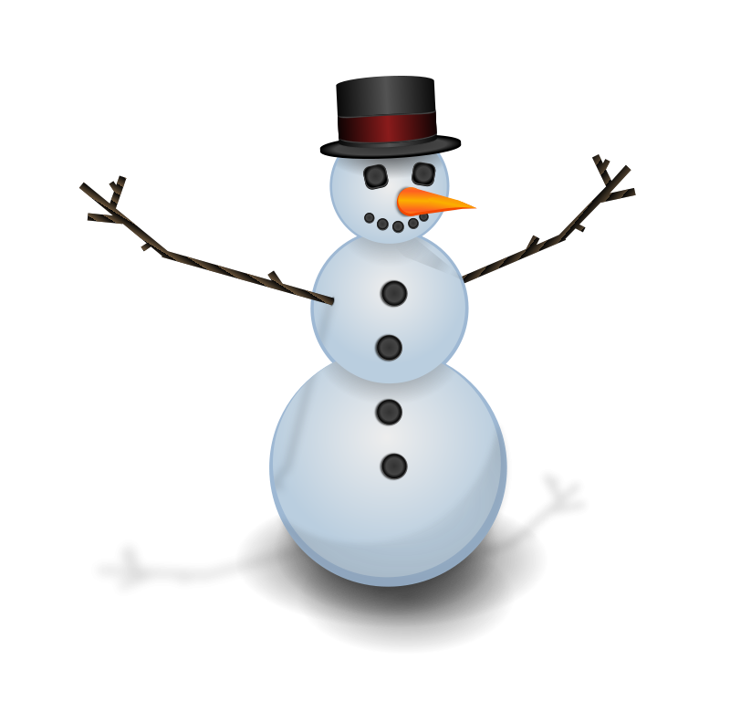Free Snow man with hat