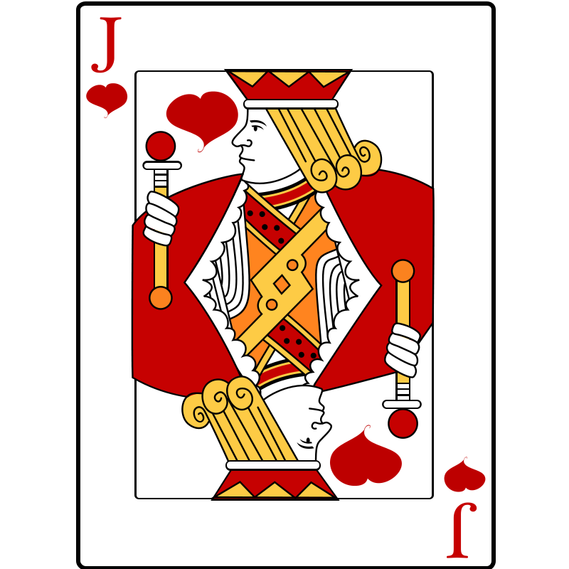 Free Clipart: Jack of Hearts | casino