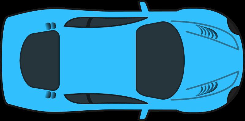 Free Blue Racing Car (Top View)