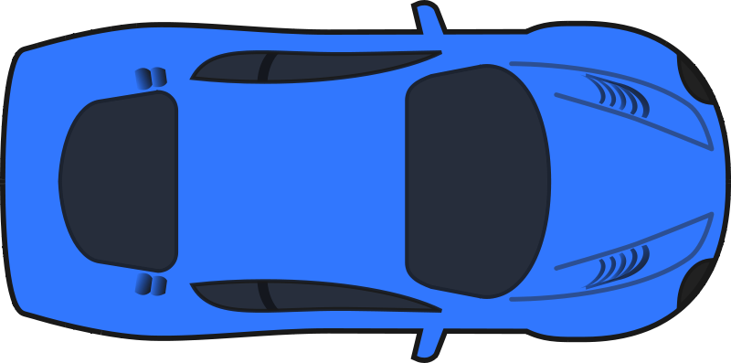 Free Dark Blue Racing Car (Top View)