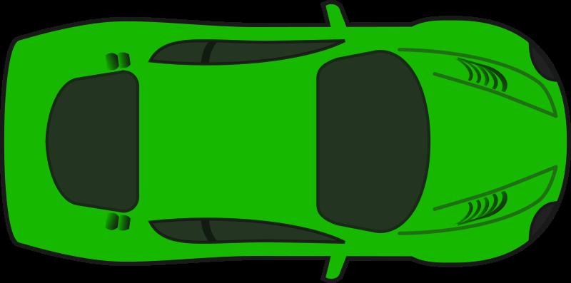 Free Green Racing Car (Top View)