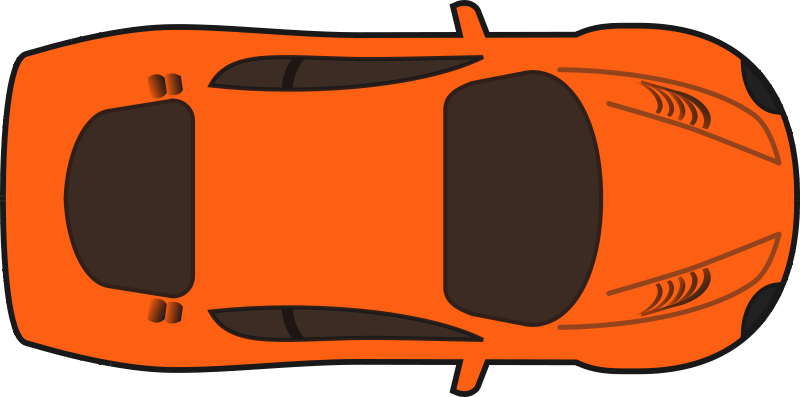 Free Clipart Orange Racing Car Top View Food Qubodup