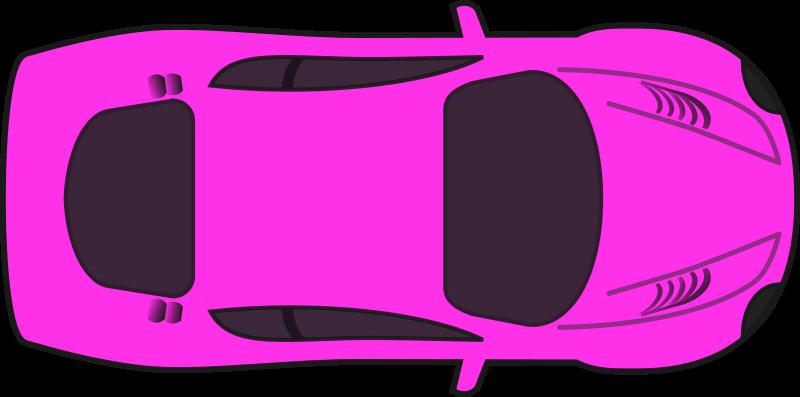Free Pink Racing Car (Top View)