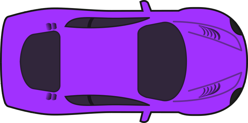 Free Purple Racing Car (Top View)
