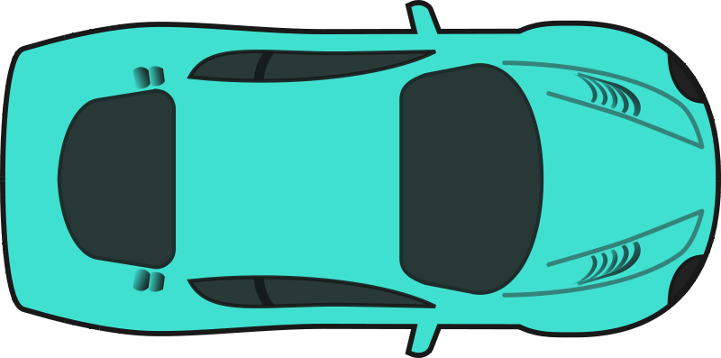Free Clipart Turquois Racing Car Top View Qubodup