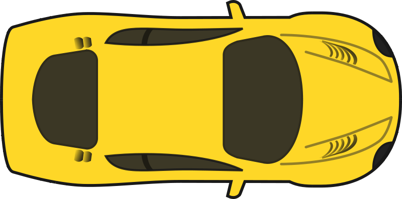Free Yellow Racing Car (Top View)