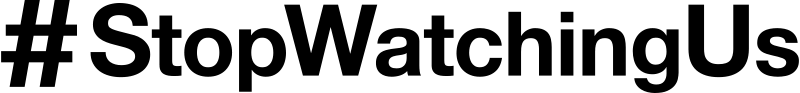 Free Clipart: StopWatchingUS Logo black and white | Nivatius