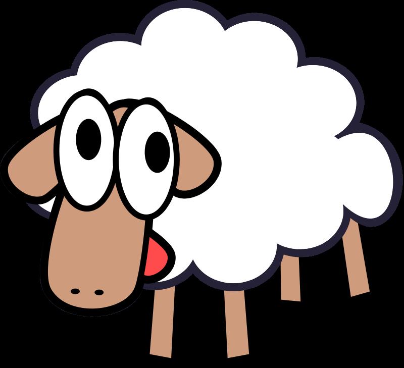 Free White Stupid & Cute Cartoon Sheep