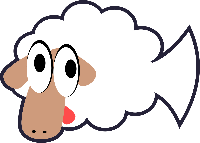 Free White Stupid & Cute Cartoon Fish Sheep